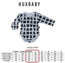 【HUXBABY】出産祝 Boys ロンパース block long sleeve onesie