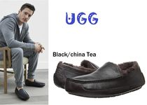 セール!UGG Ascot  Leather メンズ/ Black China Tea