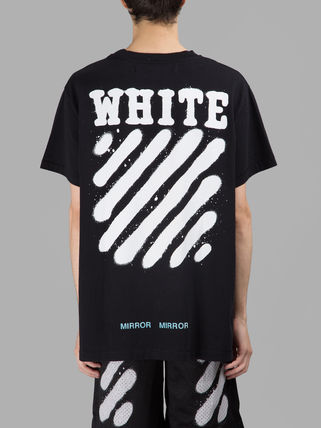 SS17 OFF WHITE off white SPRAY print short sleeve T shirt