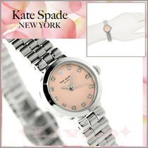 【Kate Spade】☆ピンクの文字盤&シルバー☆ グラマシー