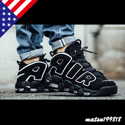 NIKE MORE UPTEMPO Black GS restock