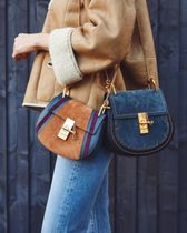 ☆ Chloe  Drew small suede and leather cross-body bag