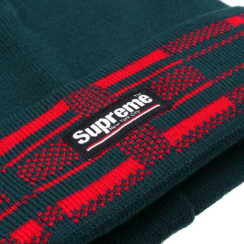在庫有り★送料込み★Supreme Plaid Cuff Beanie green