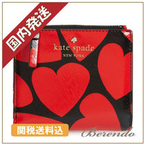 国内発送★kate spade be mine adalyn slim wallet ハート柄財布