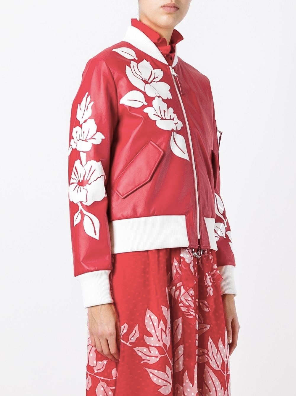 FE1289 LOOK4 FLORAL LEATHER BOMBER JACKET