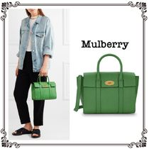 【MULBERRY】Bayswater レザートートバッグGreen*関税込