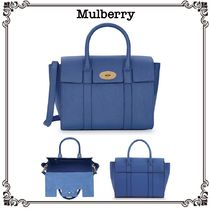【MULBERRY】Bayswaterレザートートバッグ Blue*関税込