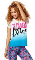 新作♪Zumbaズンバ Love V Neck - Royal Blue