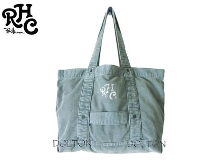 Ron Herman RHC logo tote bag washed blue