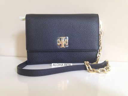 TORY BURCH MERCER CHAIN WALLET CROSSBODY, Black 即発送可能