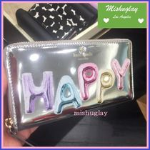 【kate spade】国内完売!!可愛い'HAPPY'ロゴ★長財布lacey★