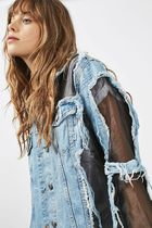 《プチ160cm以下の方対象♪》TOPSHOP☆Organza Denim Jacket