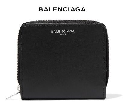 ★関税負担★BALENCIAGA ★TEXTURED-LEATHER WALLET