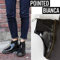 Dr Martens☆POINTED BIANCA エナメルレザー ブーツ 21777001