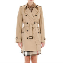 Burberry★KENSINGTON Trench/ Honey ミディアム丈 関税/送込
