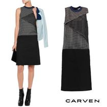 SALE !!★ CARVEN ★Layered checked ワンピース☆関税込