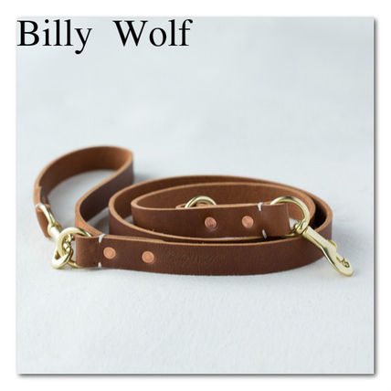 Billy Wolf / classic design leather dog leads