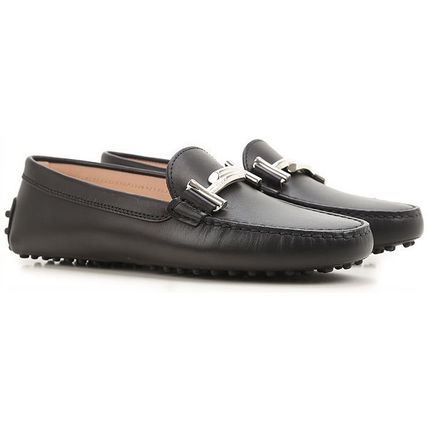 17SS TOD'S★Double T Gommino Driving Shoes BLK 関税/送料込