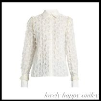Lace-back fil coupe shirt