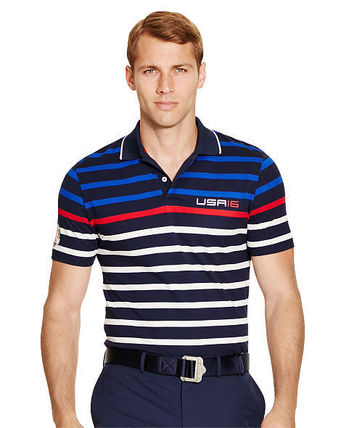 Ralph Lauren メンズ・トップス 【セール】POLO GOLF: US RYDER CUP ACTIVE-FIT POLO ポロシャツ