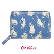 ☆Cath Kidston☆POCKET PURSE MONO CATS MID BLUE☆