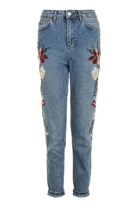 TOPSHOP デニム・ジーパン 《花の刺繍入り♪》☆TOPSHOP☆Floral Embroidered Mom Jeans(2)