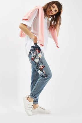 TOPSHOP デニム・ジーパン 《花の刺繍入り♪》☆TOPSHOP☆Floral Embroidered Mom Jeans(3)