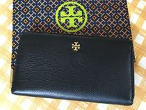 即発☆Tory Burch☆Mercer Zip Continental☆上質レザー☆Black