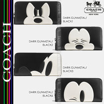 COACH★MICKY ACCORDION ZIP WALLET GLOVETANNED LEATHER 54000