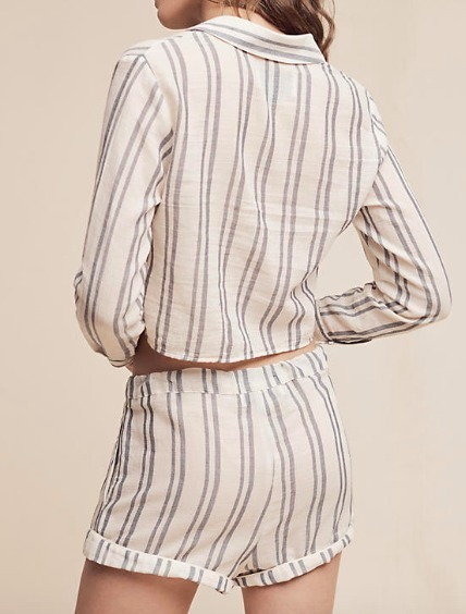 Taylor Striped Resort Shorts★カバーアップ 間税込
