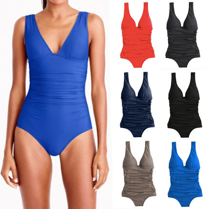 D-cup ruched femme one-piece swimsuit★間税込★国内発送