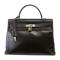 Hermes KELLY32 vintage Box ダークブラウン