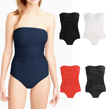 D-cup ruched bandeau one-piece swimsuit 間税込 国内発送
