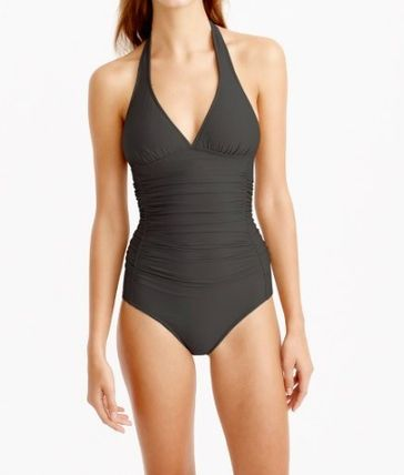 D-cup ruched halter one-piece swimsuit 間税込 国内発送