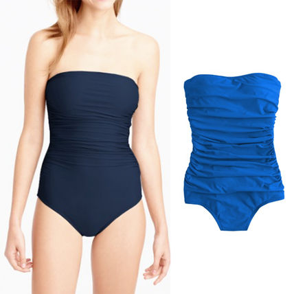 DD-cup ruched bandeau one-piece swimsuit 間税込 国内発送