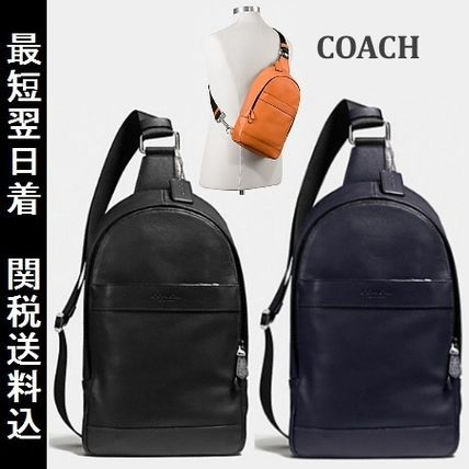 COACH CHARLES leather