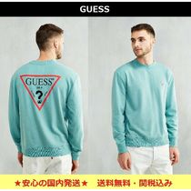 【Guess】着心地◎ロゴ入りフレンチテリー生地トレーナー★Green