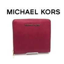 17SS ☆Michael Kors☆ Jet Set Travel カードケース CHERRY♪
