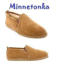 セール!Minnetonka Twin Gore Sheepskin  / Tan メンズ