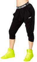 新作♪ZUMBAズンバNever Stop Dancing Harem Capri Pants-Black