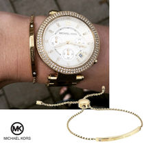送料&関税込♪ Michael Kors☆LOGO BAR SLIDER BRACELET GOLD