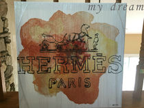 Oliver Gal 'Orange Paris ' HERMESモチーフ(4サイズ)