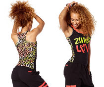 新作♪Zumbaズンバ Zumba Love Racerback-Back to Black