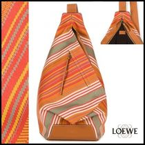LOEWE(ロエベ)☆ANTON-BACKPACK ストライププリント☆ red
