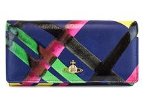 VivienneWestwood 財布 1032 PAINTED TARTAN 16aw1032pttrblue