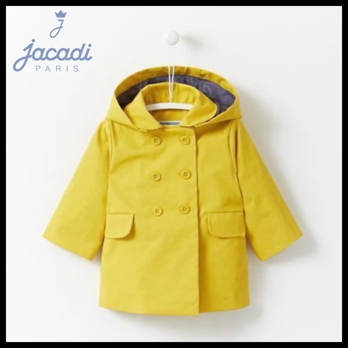 【JACADI】ジャカディ☆DOUBLE BREASTED COTTON COAT