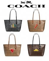 COACH♡NYCコラボ【CITY ZIP TOTE IN SIGNATURE】