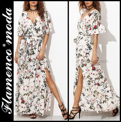DDseleccion popular * flower print Maxi dress/w
