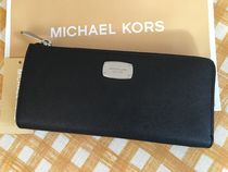 即発★MICHAEL KORS★Jet Set Travel★L字型ジップ長財布★Black
