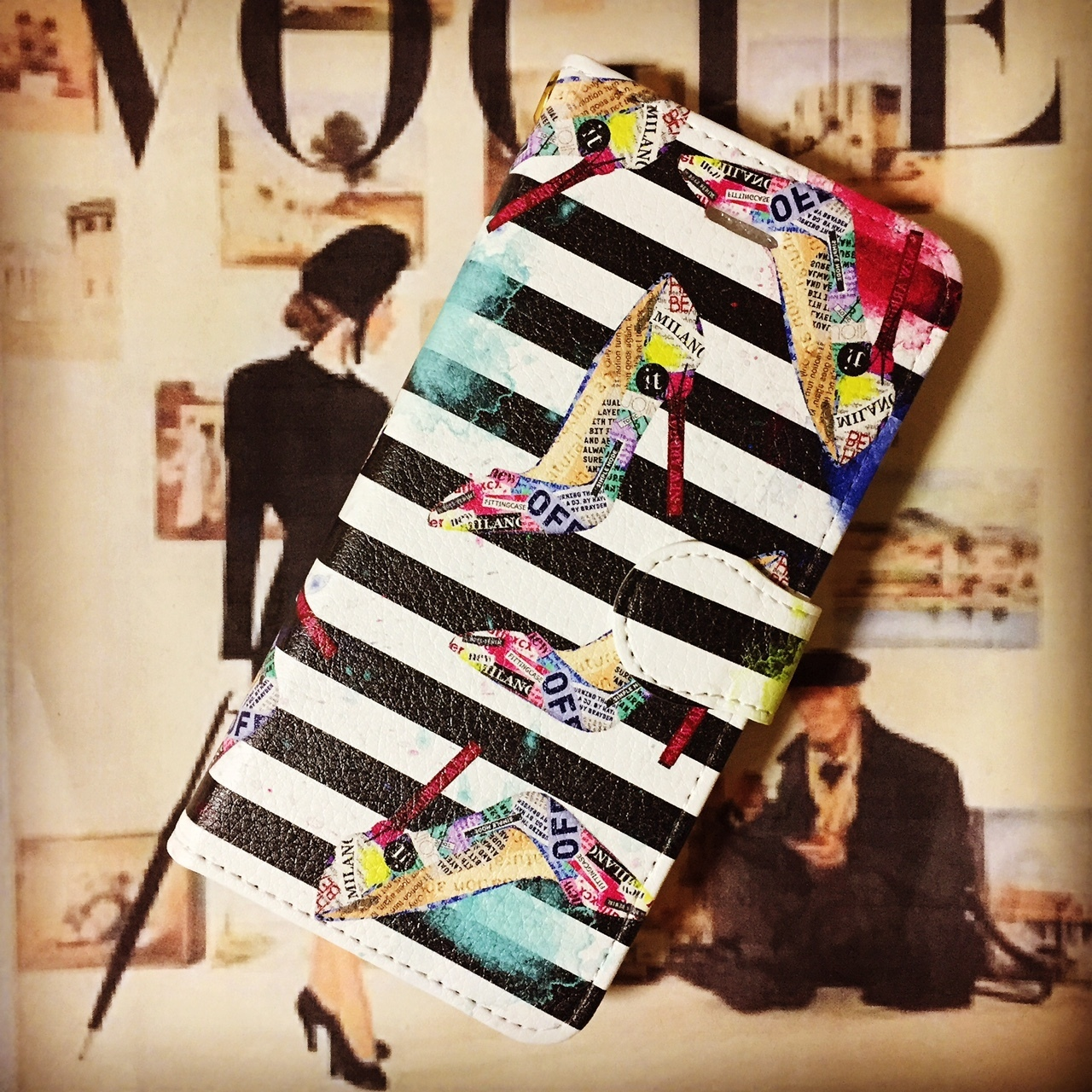 Collage Design iPhone case【FITTING CASE】【WTASTY】